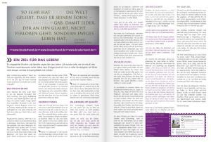 Seite 20/21 - Doppelseitige Religiöse Propaganda. Oben links der minimale Hinwesie auf eine Anzeige.