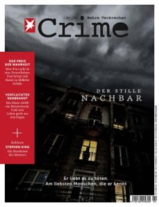 """Dier vierte Ausgabe von """"Stern Crime"""" in der die deutsche Fassung von """"Ein Tod"""" exklusiv vorab veröffentlicht wurde."""